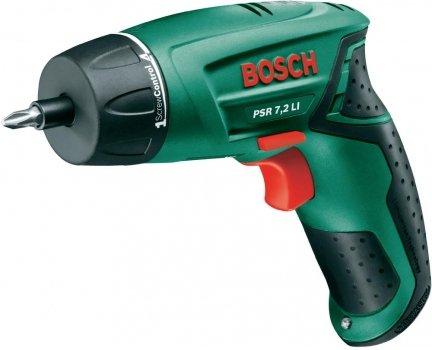 Bosch Akku-Schrauber 7,2V 1,3Ah 6/10Nm PSR 7,2 LI für 56,32 € @SMDV