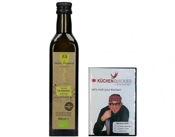 Stefan Marquard Premium BIO LUXUS Olivenöl 0,5L mit Koch DVD (KüchenQuickies) @null 4,99€