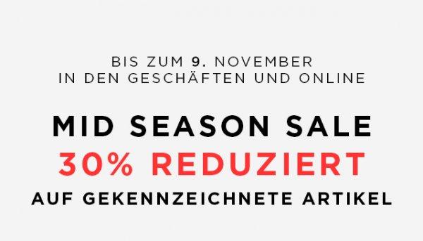 MANGO.com - 30% Mid Season Sale in den Geschäften und online