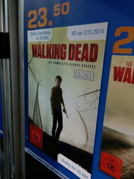 [Lokal Dortmund?] The Walking Dead Staffel 4 (Uncut & Extended) als BluRay (25,50€) und DVD (23,50€) bei Saturn Dortmund City