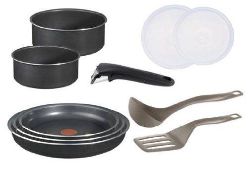 Tefal Ingenio 5 L0369602 Küchen-Set, Antihaftbeschichtung, Aluminium, Schwarz, 10-teilig für 47,96 € @Amazon.fr
