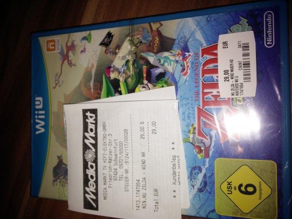 (Lokal Schweinfurt MM) The Legend of Zelda: The Windwaker HD (Wii U) für 29 Euro