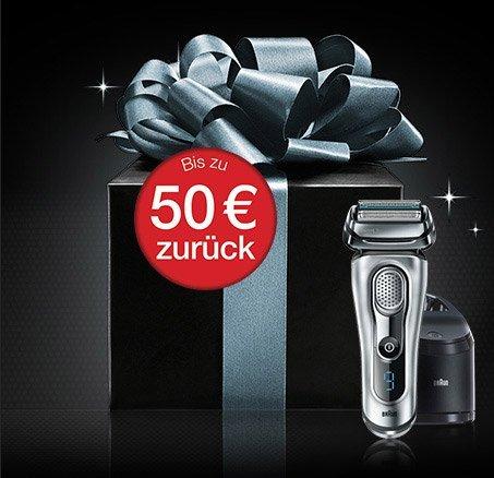 Braun - bis zu 50 EUR Cashback auf Rasieren, Epilierer, Haarpflege