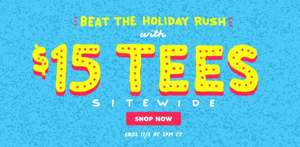 "THREADLESS SALE ""All Tees $15 Beat the holiday rush"" +9,90$ PORTO"