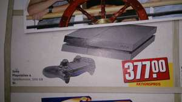 PS4 Konsole für 377.00 Euro Rewe Center Hamburg