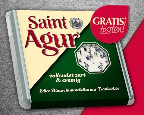 2 Saint Agur Blauschimmelkäse GRATIS testen bis 31.12.2014 (Testwochen + Scondoo)