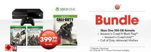 Xbox One (ohne Kinect) + AC: Unity + AC: IV + CoD: Advanced Warfare für 399,00 (499,00 mit Kinect) @ GameStop