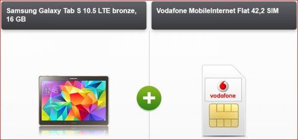 [modeo.de] Samsung Galaxy Tab S 10.5 LTE mit 6GB mtl. im Vodafone-Netz