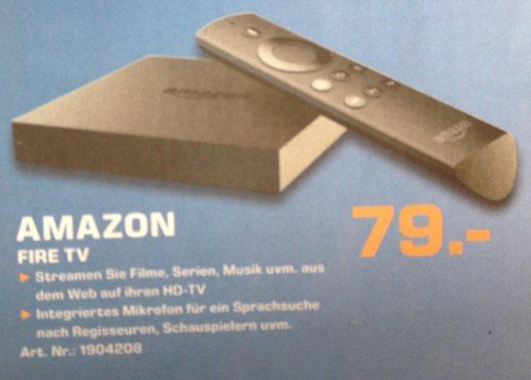 (lokal: Wuppertal) Amazon Fire TV für 79 € - direkt erhältlich - Saturn Wuppertal