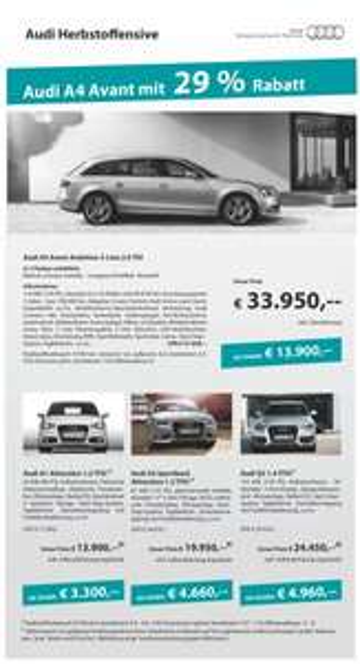 [Lokal 91522 Ansbach] Audi A4 Avant 2.0 TDI Ambition S-Line gut ausgestattet neu für 33.950 EUR