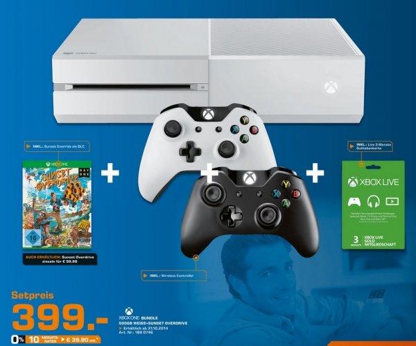 [Lokal] Xbox One in weiss mit Sunset Overdrive, 2. Controller und 3 Monate Xbox Live Gold für nur 399€ im Saturn Kiel