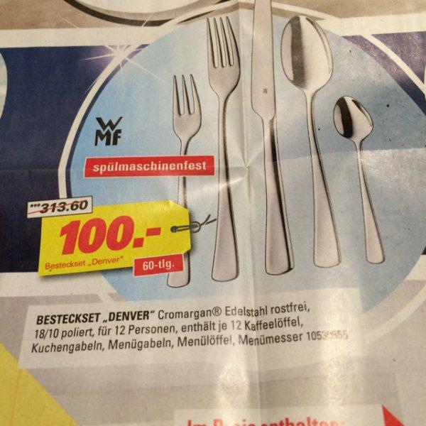 [Höffner] WMF DENVER 60-tlg. Besteckset für 100€, Idealo 141,80€