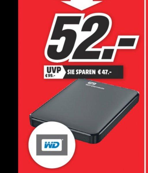 [Local Rostock] WD Elements 1TB, tragbare Festplatte, schwarz, 2,5 Zoll USB 3.0