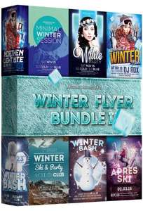 Winter Flyer Bundle 1 für Photoshop