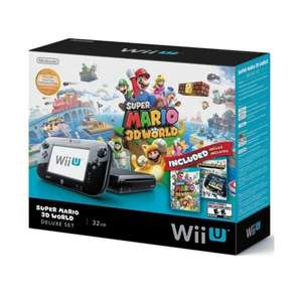 109,15€gespart bei Nintendo Wii U 32GB Black Deluxe Set w/ Super Mario 3D World & Nintendo Land [amazon USA]  Zollgefahr!