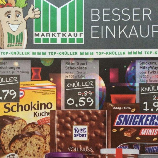 [Lokal Wesseling??] Ritter Sport 100g Tafel für 0,59€ bei Marktkauf 03.11-08.11