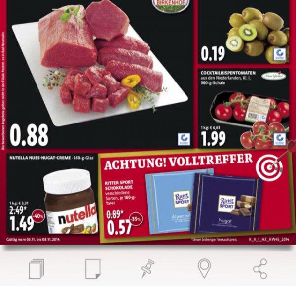 [Kaisers] Rittersport 100g 0,57€