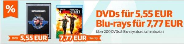 DVD (5,55€) und Blu-Rays(7,77€) reduziert bei Buch.de