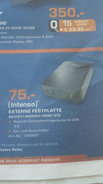 [Lokal Aachen?] Intenso Externe Festplatte 3 TB USB 3.0 3,5 Zoll