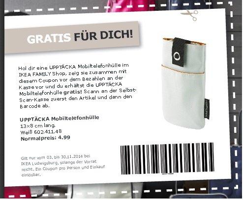 Handytasche UPPTÄCKA weiß für Gratis (statt 4,99€) @Ikea Ludwigsburg