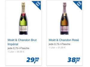 [REAL] Moet & Chandon Champagner Brut Imperial & Rose Imperial