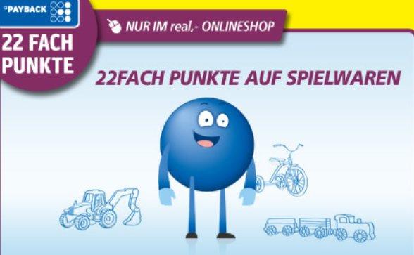 Real.de - Mo.3.11.2014 Payback 22Fach Punkte + 15% Gutschein auf Spielwaren