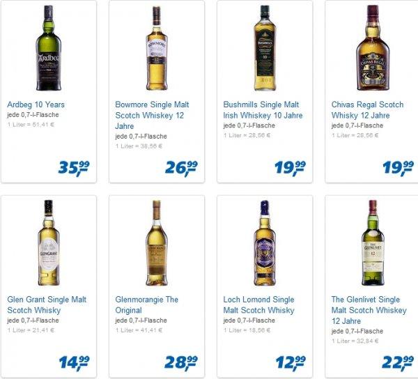 [real, bundesweit?] verschiedene Whiskies zum guten Kurs