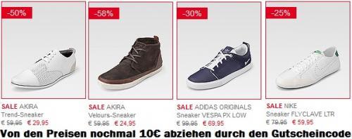 Günstige Sneaker durch Görtz Sale + extra 10€ Gutscheincode