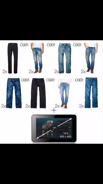 2 x HIS Herren Jeanshose W 30-42 L 30-38 & Archos 70 IT 8GB refurbished Tablet @ebay