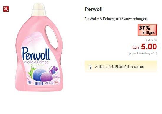 [Kaufland BW?] 3L Perwoll (32 Waschladungen) für 4 Euro statt 7,99 Euro