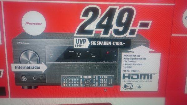 (Lokal MM M´Gladbach) Pioneer VSX-529-K 5.2 AV-Receiver 249 Euro