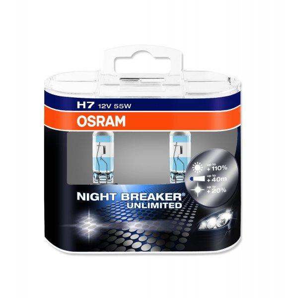 OSRAM Night Breaker Unlimited - H7 Halogen Scheinwerferlampen - 2 Stück für € 15,28 (mit Prime)