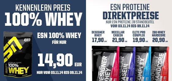 ESN 100% Whey für 14,15€ / kg