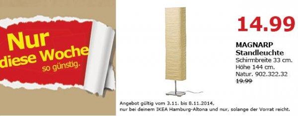 [Lokal IKEA Hamburg Altona] MAGNARP Standleuchte naturfarben für 14,99 € (statt 19,99 €)