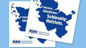 (Lokal Schleswig-Holstein) Glücklich Glücklicher Schleswig-Holstein Aufkleber.