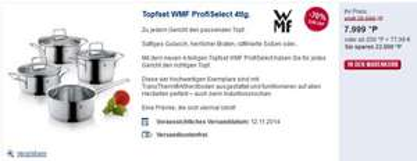 [Payback] Topfset WMF Profi Select 4tlg.