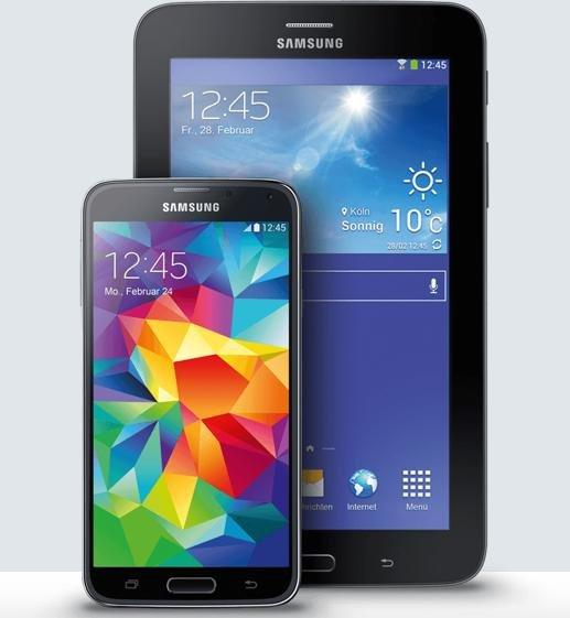 Samsung Galaxy S5 schwarz & Galaxy Tab 3 7.0 Lite für 434€ @Smartkauf
