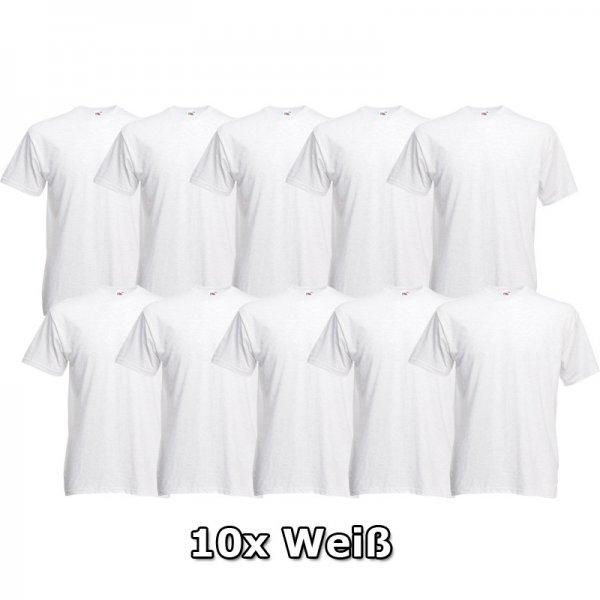 10er Pack Fruit of the Loom T-Shirt Heavy Cotton M bis 3XL Markenshirts in weiß für 14,95€ bei Ebay versandkostenfrei