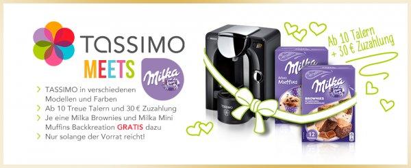 Bosch TASSIMO CHARMY + 60€ Gutschein + 1x Milka Mini Muffins und 1x Milka Brownies @beiunszuhause.de (benötigt 10 Taler)