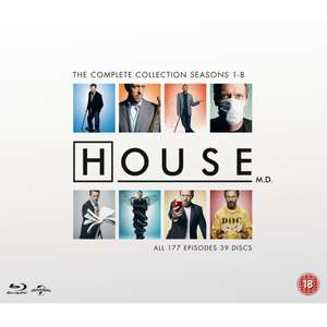 Blu Ray - Dr. House Complete Collection inkl. Dt. Tonspur! 76,19€