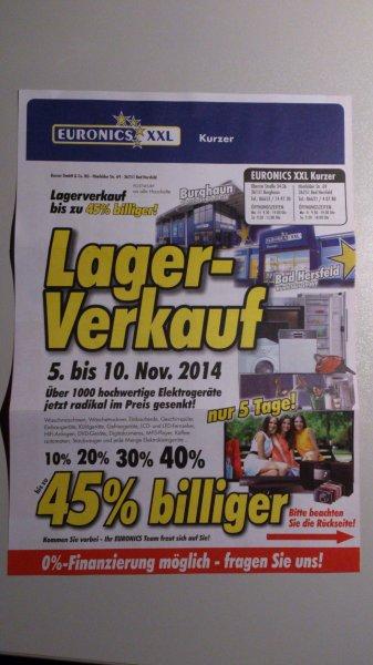 [Lokal HEF] Euronics XXL Kurzer Lagerverkauf z.B. Sony  KD65X8505B für 2799,20€