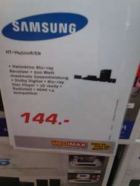 Lokal/offline:  Medimax Riesa : Samsung HT-H4500R 5.1 3D Blu-ray-Heimkinosystem für 144 (Idealo: 159)