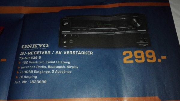 *LOKAL* Onkyo 636 B AV-Receiver für 299€ @Saturn Essen