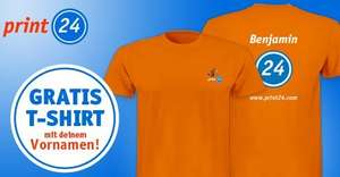 kostenloses T-Shirt bei print24