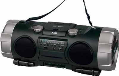 Mobiler Ghettoblaster Radiorecorder MP3 USB AEG SRP4335