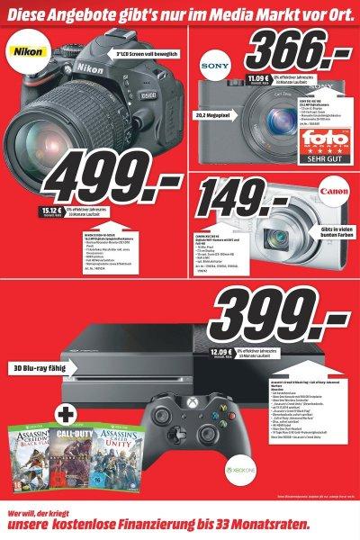 MICROSOFT Xbox One 500GB inkl. CoD: Advanced Warfare + AC: Unity + AC: Black Flag