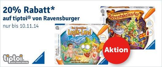 20% Rabatt auf TipToi Spiele bei mytoys.de, ab 50€ Gesamteinkaufswert