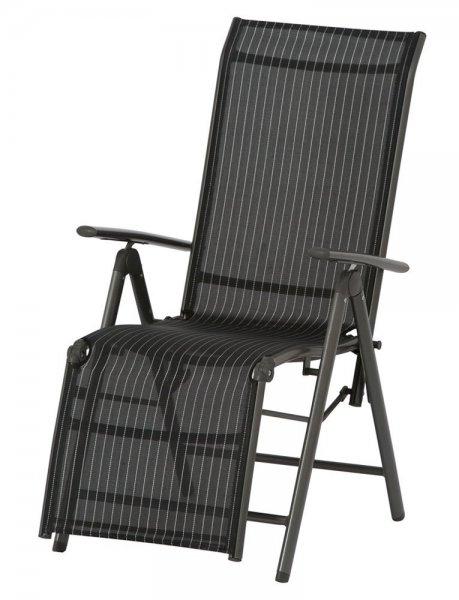 [WHD] Garten-Relaxsessel Delphi, Aluminiumgestell anthrazit für 30,66€ statt 60,97€