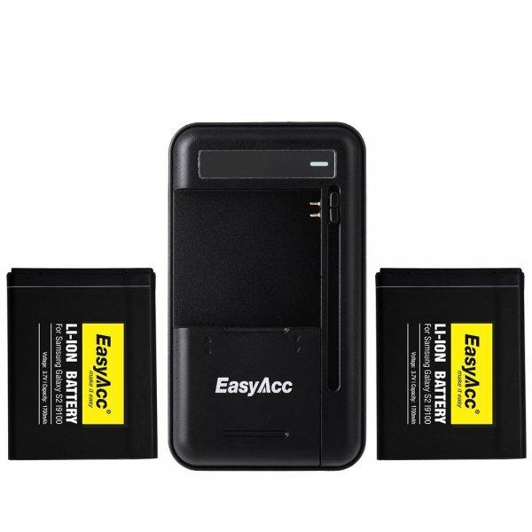 35% Rabatt auf EasyAcc Li-ion Akkus (zum Teil mit Ladegerät) für Samsung S2,S3,S4,S5,Note3 (ab 5,84€)