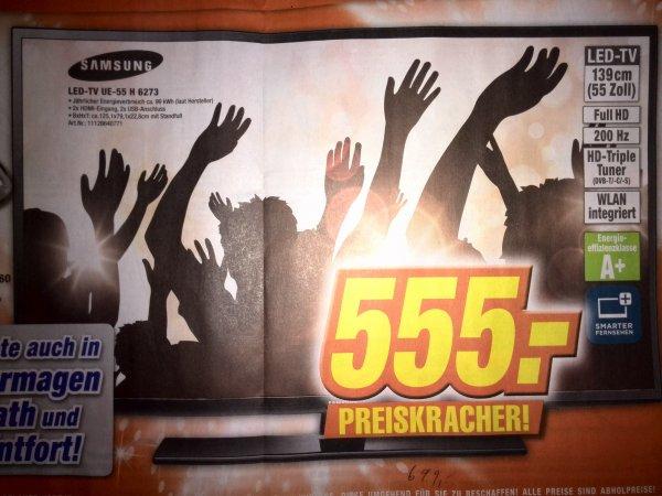 [Lokal] Samsung UE-55H6273 bei Expert in Dinslaken, Neuss, Simmerath, Dormagen und Kamp-Lintfort